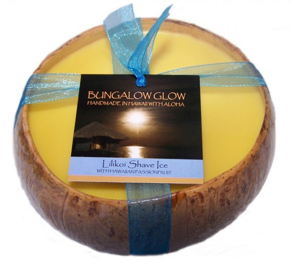 Lilikoi Shave Ice Coconut Shell Soy Candle