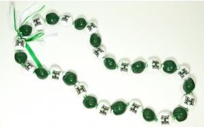 University of Hawaii Warriors Kukui Nut Lei - The Hawaii Store