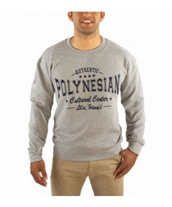 Sweatshirt Polynesian Cultural Center Authentic Light Grey - The Hawaii Store