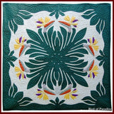 Custom Hawaiian Quilt Wall Hanging 42x42