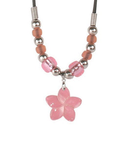 Del Sol Necklace Pink Flower Shell