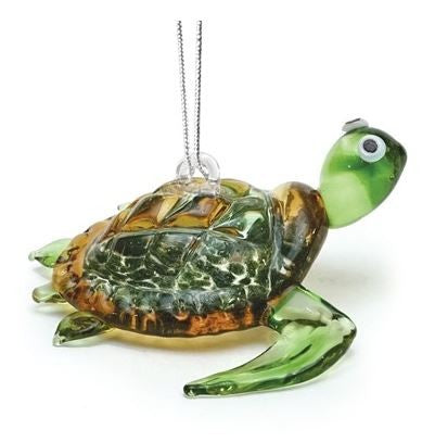 Glassdelights Baby Sea Turtle Ornament