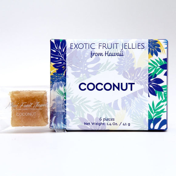 Coconut Fruit Jewels 6 pc - The Hawaii Store