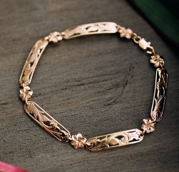 14K Gold Kaipo Linked Bracelet - The Hawaii Store