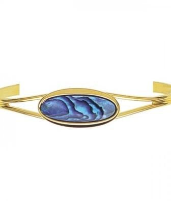 Ariki Oval Paua Bangle - The Hawaii Store