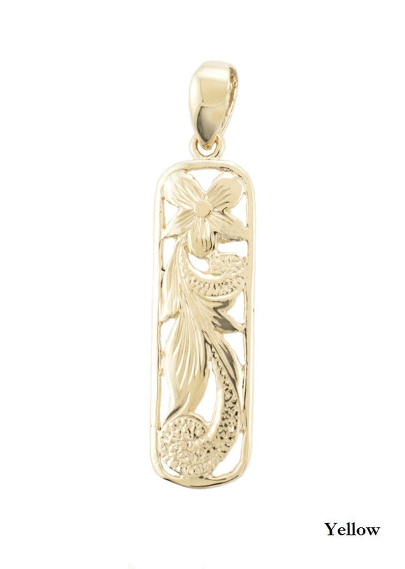 14K Gold Kaipo Pendant 8mm - The Hawaii Store