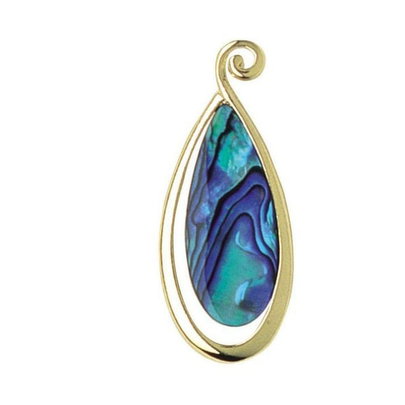 Ariki Paua Teardrop Large Pendant - The Hawaii Store