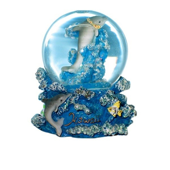 Dolphin Mom & Son Waterglobe - The Hawaii Store