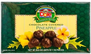 Dole Pineapple Chocolate Covered Pineapple 8 oz - The Hawaii Store