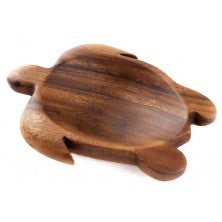 Honu (Turtle) Satin Wood Dish - The Hawaii Store