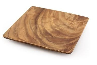 Square Wood Plate 12''