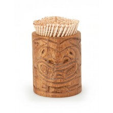 Wood Tiki Toothpick Holder 2.5''