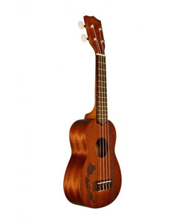Kala Soprano Ukulele - Mahogany w/ Hawaiian Islands & Tattoo - The Hawaii Store