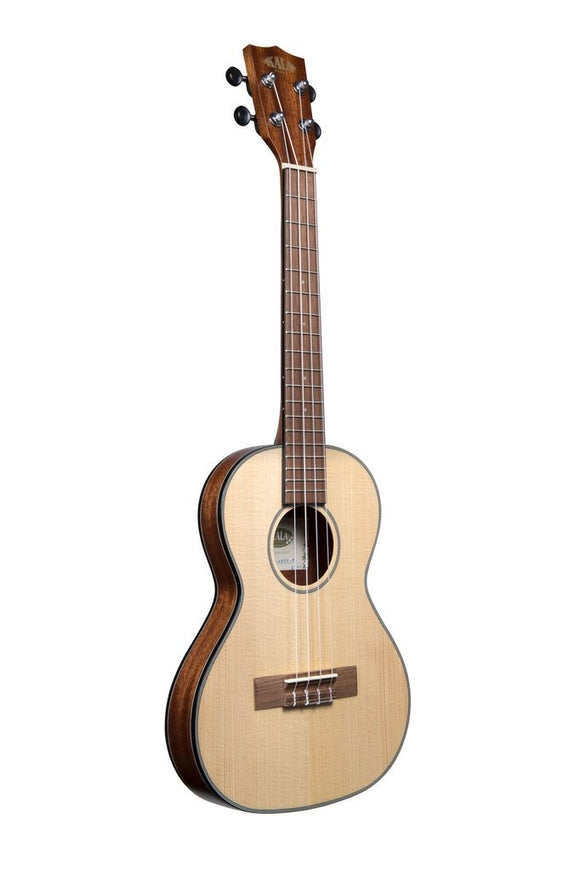 Kala Tenor Traveler Ukulele - Solid Spruce w/ Deluxe Gig Bag - The Hawaii Store