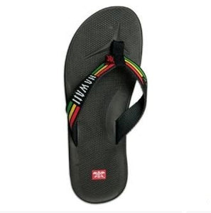 Men's Rasta Hawaii Slippers - black - The Hawaii Store
