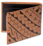 Kaulua Slim Billfold Wallet Brown - The Hawaii Store