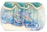 Handcrafted Glass Soap Dish Dolphin - The Hawaii Store