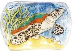 Handcrafted Glass Turtle Soap Dish