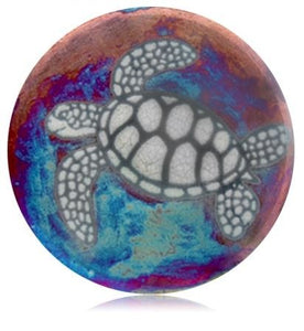 Marine Dream Raku Ceramic Plate 7'' - Polynesian Cultural Center