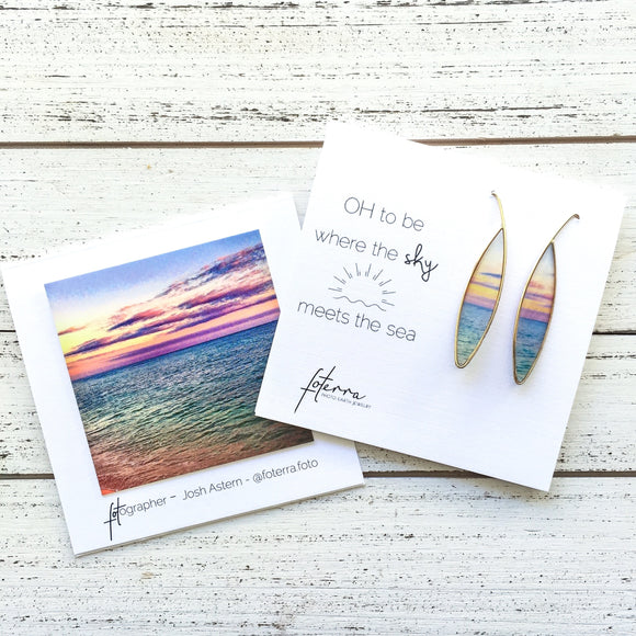 ER Makua Sunset Silver Resin - The Hawaii Store