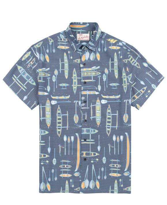 Kahala Vintage Wa'a Aloha Shirt - The Hawaii Store