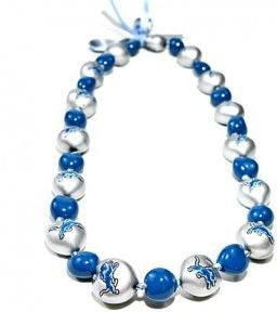 NFL Detroit Lions Kukui Nut Lei - The Hawaii Store