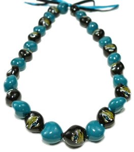 NFL Jacksonville Jaguars Kukui Nut Lei - The Hawaii Store