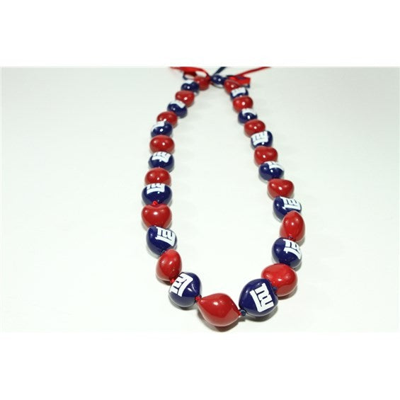 NFL New York Giants Kukui Nut Lei - Polynesian Cultural Center