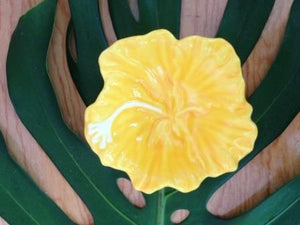 Yellow Hibiscus Dish