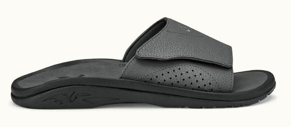 Olukai Nalu Slide Sandal Dark shadow/dark shadow