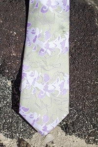 Pineapple Palaka Orchid Tie