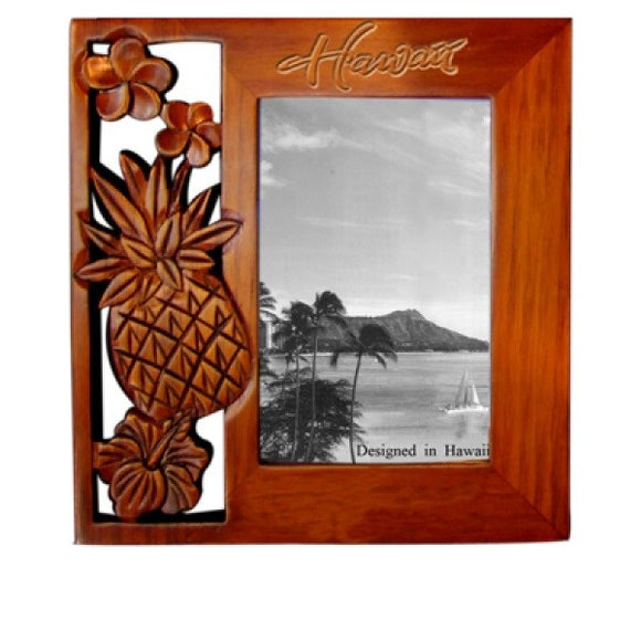 Flower with Pineapple Picture Frame - Polynesian Cultural Center