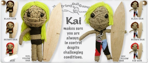 Kamibashi String Doll Kai, Girl Surfer - The Hawaii Store