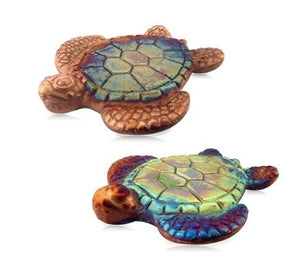 Raku Ceramic Turtle Coaster Set of 2 - The Hawaii Store