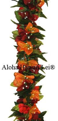 Bougainvillea/Hibiscus/Poepoe Lei - The Hawaii Store