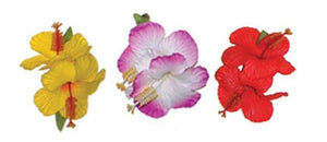 Double Kolohe Hibiscus Hair Clip - The Hawaii Store