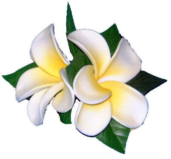 Double Plumeria Tutu Clip - The Hawaii Store