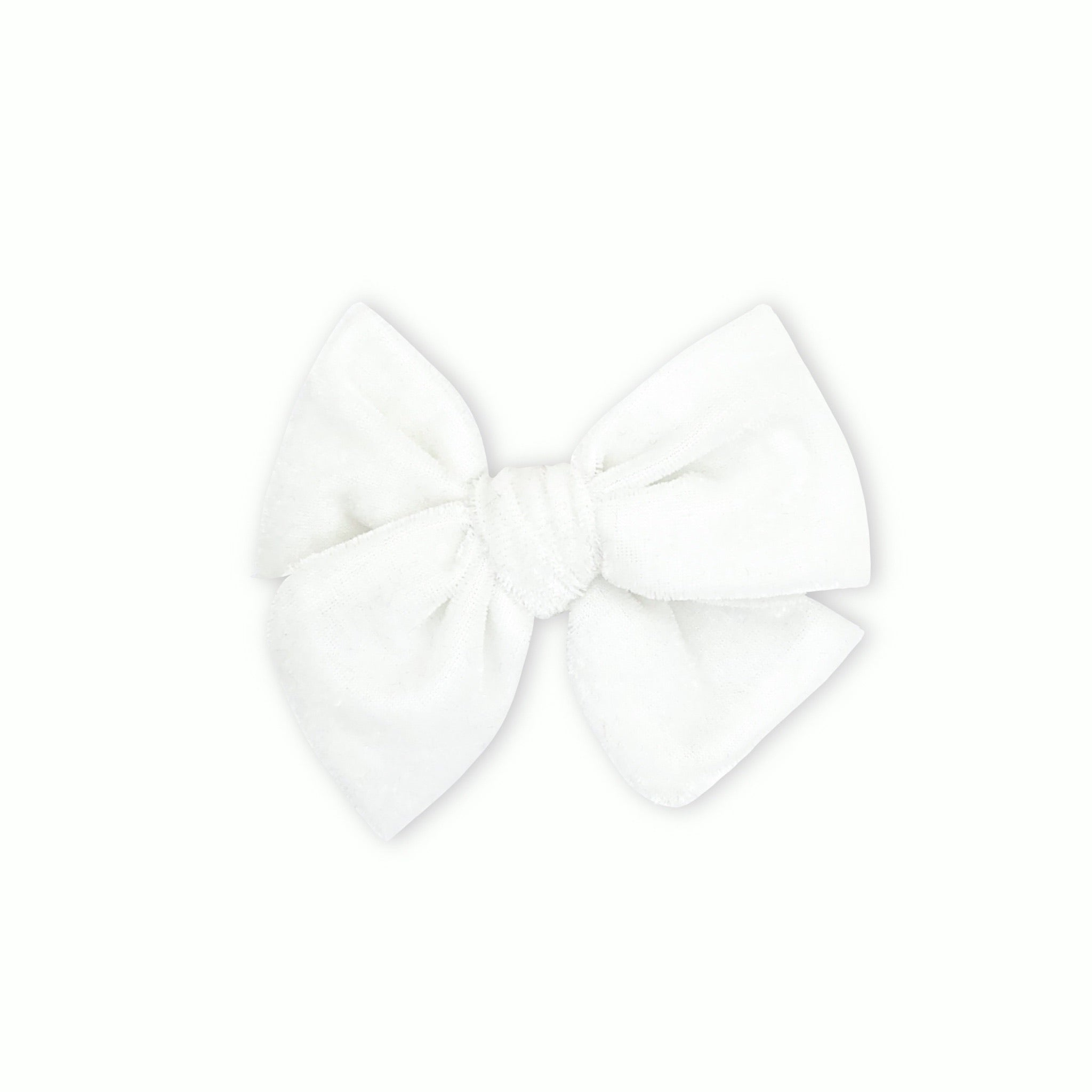 Snow White Velvet Pinwheel Bow