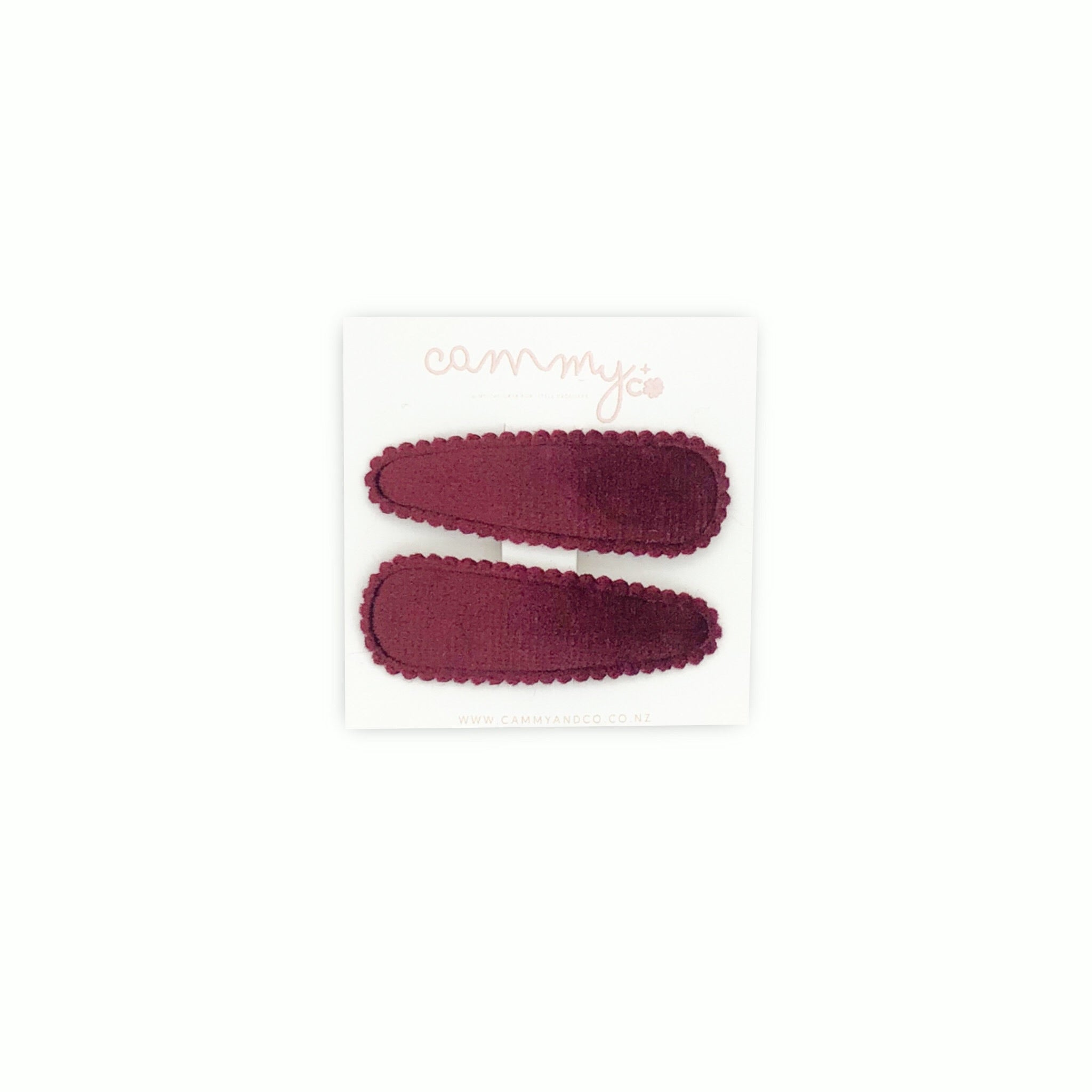 Raspberry Velvet Clip Set