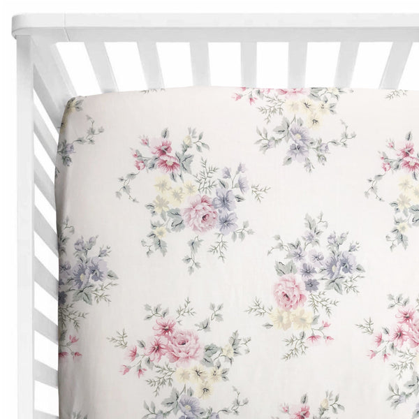 Sweet Florals Cot Sheet