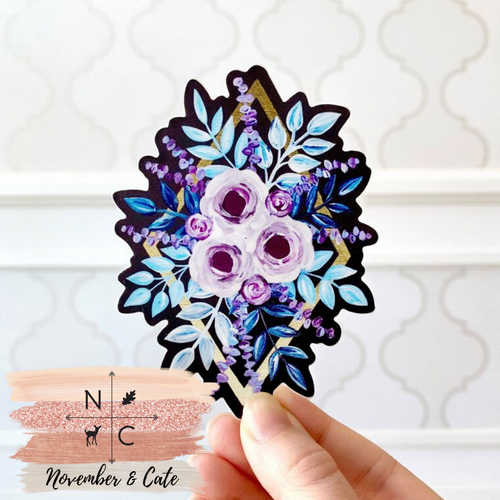 Purple Roses Sticker