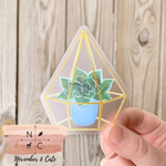 Load image into Gallery viewer, Watercolor Succulent Sticker