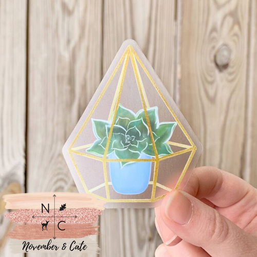 Watercolor Succulent Sticker