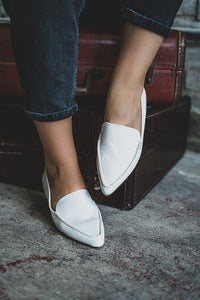 Shopping On Rodeo Drive White Crocodile Loafers