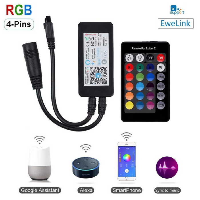 EACHEN WIFI RGB 5050LED 5M STRIP KITS- (EWELINK APP)