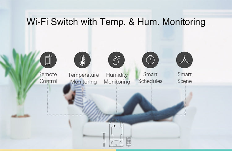 Sonoff TH16 WiFi Smart Switch (Sensor sold separately)