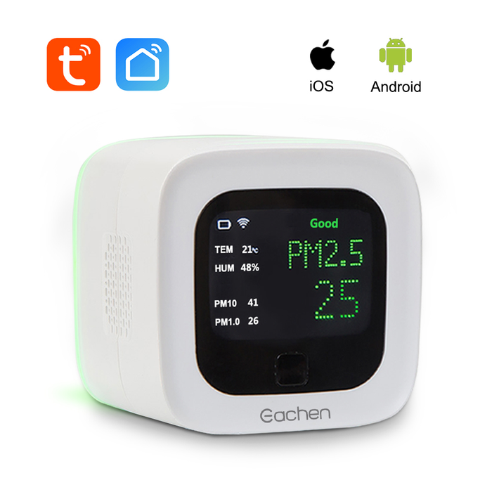 Smart WiFi PM2.5 And Temperature And Humidity Sensor Environmental Detector(Tuya Smart Life APP)