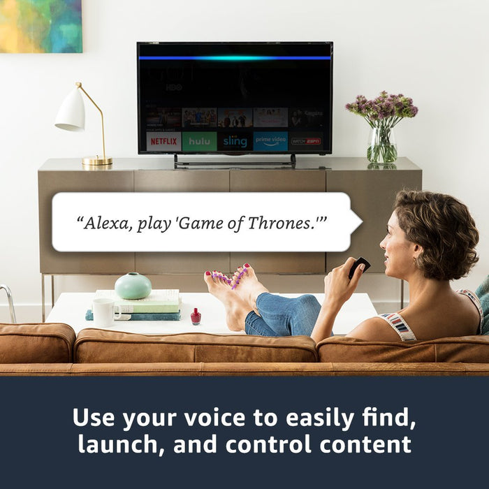 Fire TV 4K with all-new Alexa Voice Remote, streaming media player