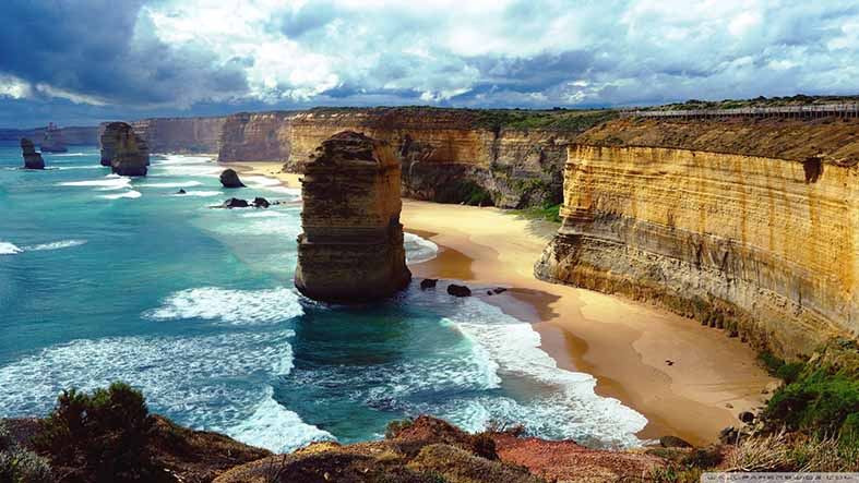 Canvas or Paper Print Of 12 Apostles