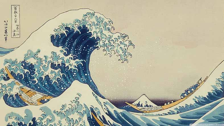 Canvas or Paper Print of The Great Wave Off Kanagawa